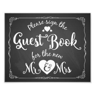 Tafel unterzeichnen bitte unser Gastbuchzeichen Photo