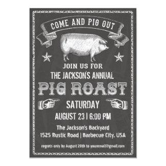 Tafel-Vintage Schwein-Braten-Einladung 12,7 X 17,8 Cm Einladungskarte