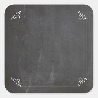 Tafel-Vintages Weiß blüht Rahmen besonders Quadratischer Aufkleber