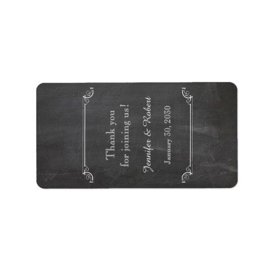 Tafel-vornehmer Hochzeits-Lippenbalsam-Aufkleber Adressetikett