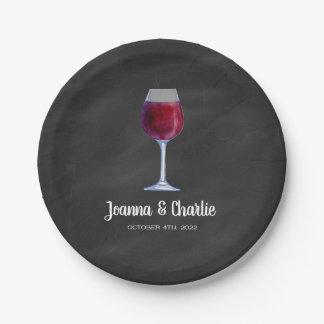 Tafel-Wein-personalisierter PapierTeller
