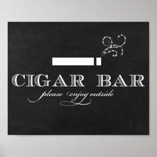 Tafel-Zigarren-Bar-Zeichen Poster