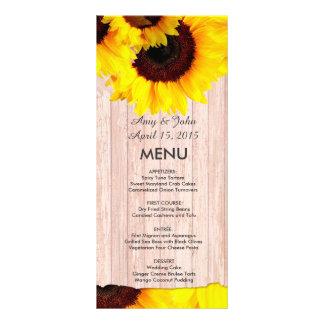 Tafelsonnenblume-Hochzeitsmenü sunflwr4 Werbekarte