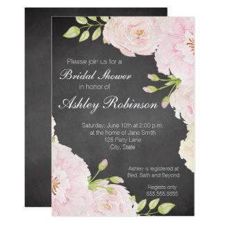 Tafelwatercolor-Rosen-Brautparty 12,7 X 17,8 Cm Einladungskarte