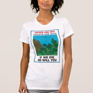Tag der Erde. Baum Hugger. Pflanze ein Baum. T-Shirt