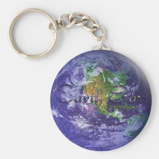 Tag der Erde der Kugel-3D Schlüsselanhänger
