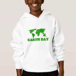 Tag der Erde-Gras-Karte scherzt Hoodie