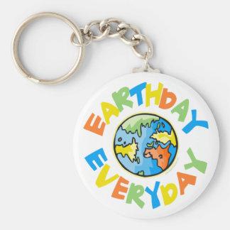 Tag der Erde jeden Tag Schlüsselanhänger