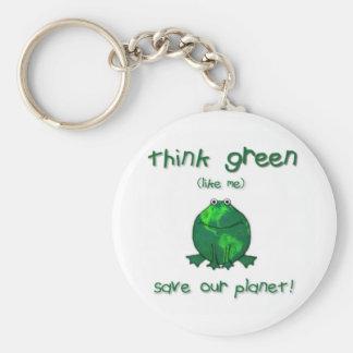Tag der Erde-Klimafrosch Schlüsselanhänger