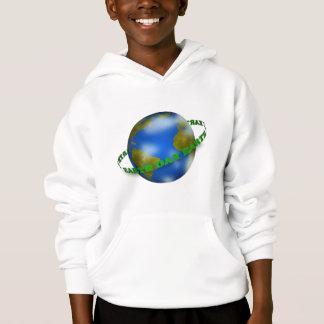 Tag der Erde-Kugel scherzt Hoodie