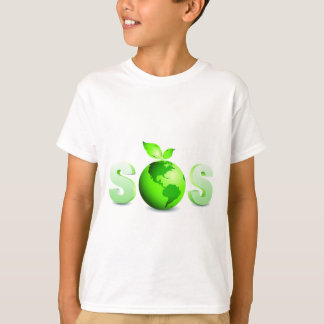Tag der Erde-Mitteilung der grüne Erdepas T-Shirt