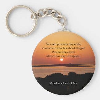 Tag der Erde-Sonnenuntergang Keychain Schlüsselanhänger