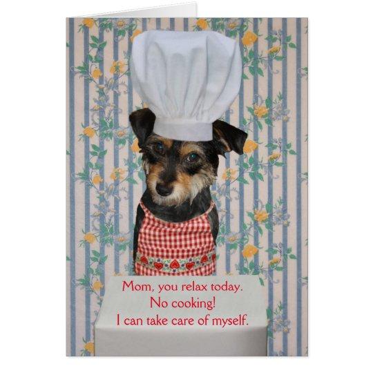 Tag der niedlicher Hundeder kundengerechte Mutter Grußkarte