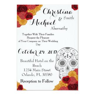 Tag der toten Hochzeits-Einladung Durchmessers Los Karte