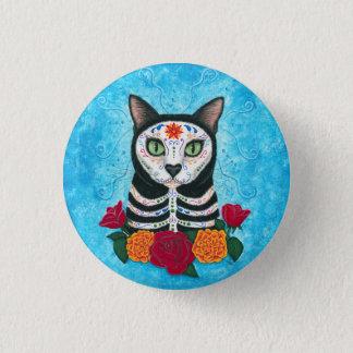 Tag der toten Katzen-Zuckerschädel-Katzen-Kunst Runder Button 2,5 Cm