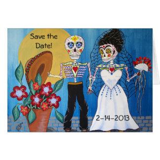 Tag der Toten Save the Date, die Notecard Wedding Karte
