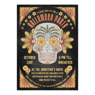 Tag der toten Schädel-Halloween-Party-Einladungen Karte