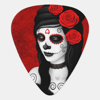 Tag des toten Mädchens mit Roten Rosen Plektrum