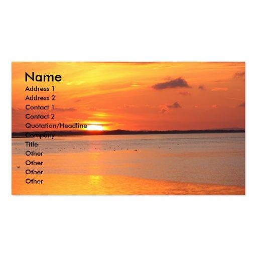 Tag gleitet in NachtVisitenkarte Visitenkarten Vorlage