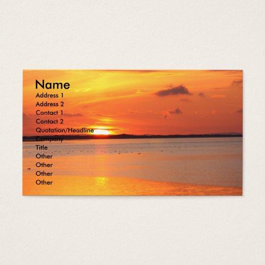 Tag gleitet in NachtVisitenkarte Visitenkarte