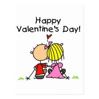 Tag Liebeam glücklichen Valentines Postkarte