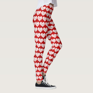 Tag Liebewatercolor-der rote Leggings