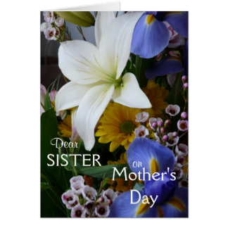 Tag-Schwester-Hübsches Blumen der glücklichen Karte