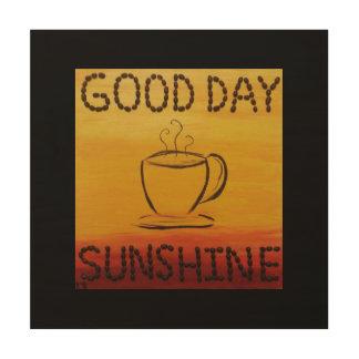 Tag-Sonnenschein Holzdruck