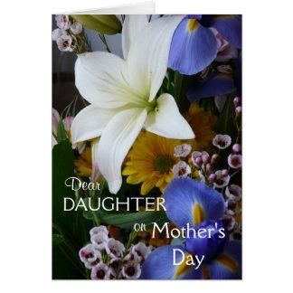 Tag-Tochter-Hübsches Blumen der glücklichen Mutter Grußkarte