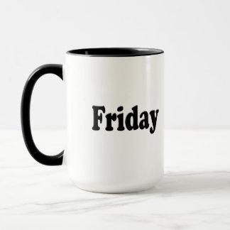 Tage der Woche - Freitag Tasse