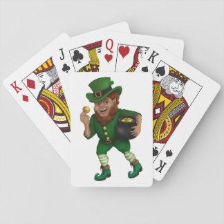 Tagesglücklicher Kobold St Patrick s Spielkarten