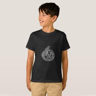 tagless T - Shirtschwarzes der Jungen T-Shirt
