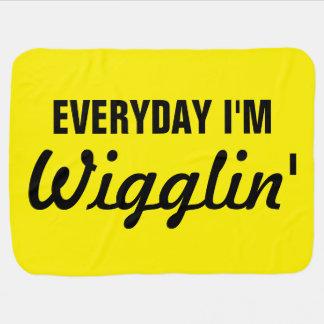 Täglich bin ich lustiges Wigglin Babydecke