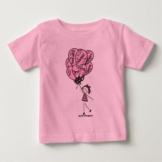 Tägliche Inspiration - rosa Ballon-Sammlung Baby T-shirt