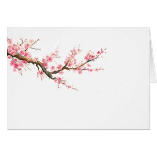 tägliche Watercolorkirschblüten-Mitteilungskarten Mitteilungskarte