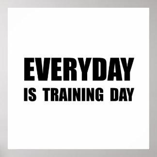 Täglicher Trainings-Tag Poster