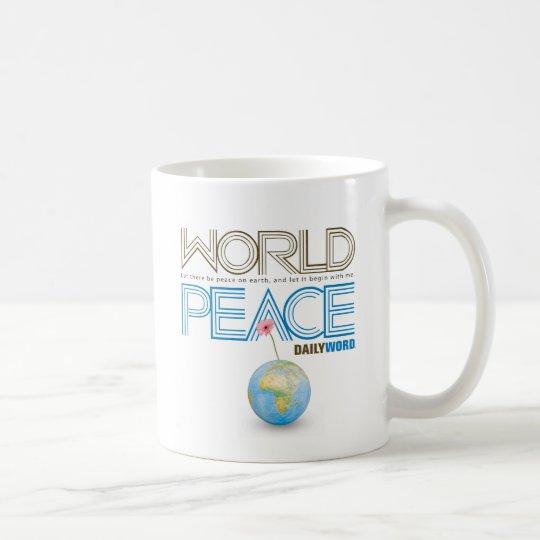 """TÄGLICHES WORD® """"Weltfrieden"""" Kaffeetasse"""