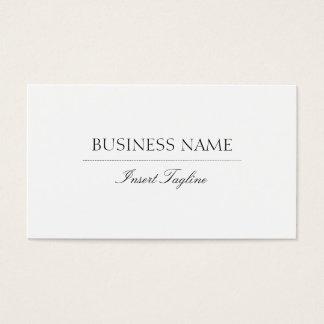 Tagline elegant visitenkarte