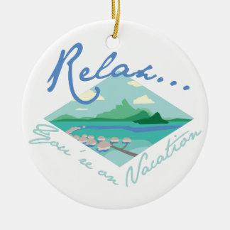 Tahiti-Ferien Rundes Keramik Ornament