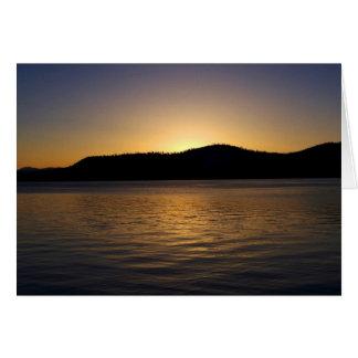 Tahoe Sonnenuntergang Karte