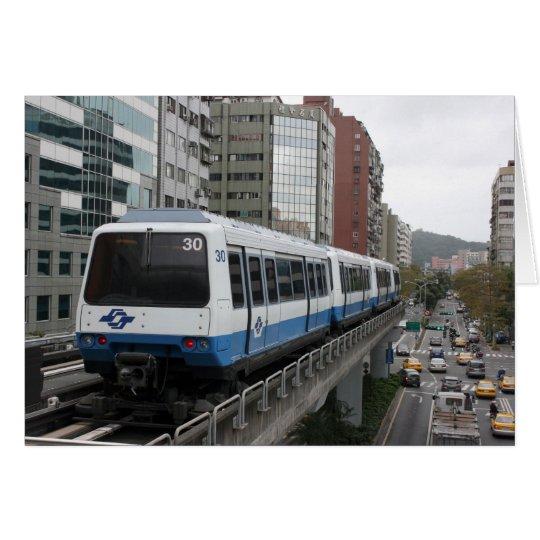 Taipeh-Metro, die Liuzhangli Station, Taipeh Grußkarte