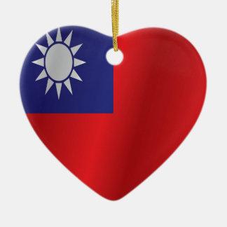 Taiwan-Flagge Keramik Ornament