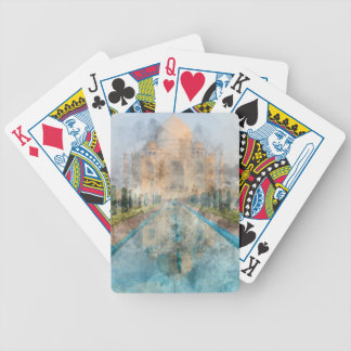Taj Mahal in Agra Indien Bicycle Spielkarten