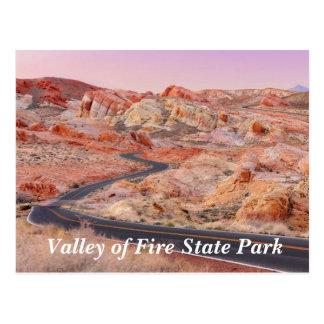 Tal des Feuer-Staats-Parks, Nevada-Postkarte Postkarte
