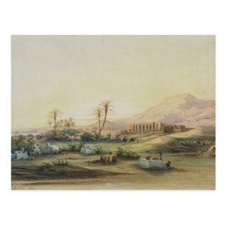 Tal von Nil mit Ruinen des Tempels von Postkarte