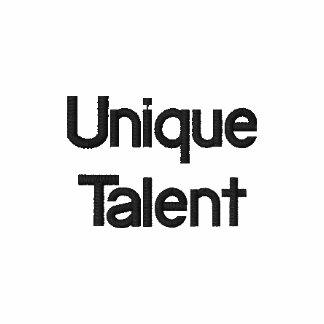 Talent unique sweat-shirt zipper brodé