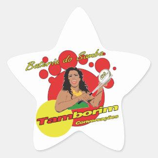 Tamborim Batucada von Samba Stern Aufkleber