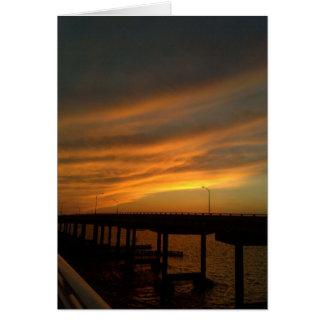 Tampa-Sonnenuntergang an der Damm Grußkarte