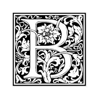 Tampon Auto-encreur Monogramme floral vintage élégant de la lettre B