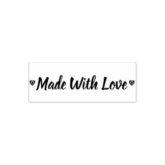 Tampon Auto-encreur Rustique fait avec des coeurs d'amour